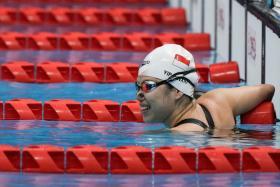 Yip Pin Xiu had also won the women's S2 100m backstroke gold at the Tokyo Paralympics last week.