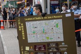 Hong Kong police raid Tiananmen museum