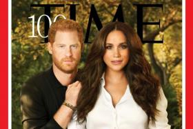 Prince Harry (left) and Meghan on the cover of Time magazine's annual 100 most influential people in the world issue.