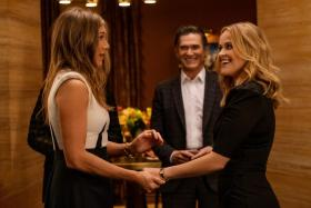 Jennifer Aniston (left) and Reese Witherspoon in The Morning Show