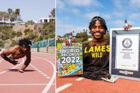 Fastest walking on hands among latest Guinness World Records