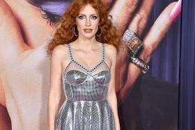 Jessica Chastain shines in disco ball dress