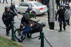 Melbourne police fire pepper balls, pellets to break up Covid protest