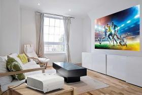 Recreate movie theatre experience at home with a projector