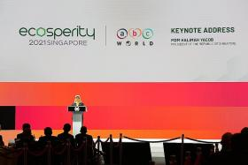 Halimah urges businesses to take responsibility for climate action