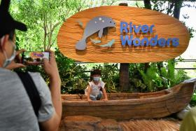 Mr Mike Barclay said there is a tight supply of labour and equipment. (Above) The new River Wonders sign, which has replaced the former River Safari sign.