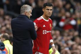 Ole Gunnar Solskjaer was questioned over his decision to leave Cristiano Ronaldo out of the starting XI in Manchester United's 1-1 draw with Everton