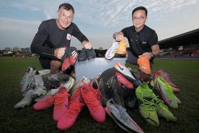 Former Singapore striker Duric collects old boots for needy kids