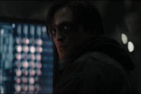 Robert Pattinson as Bruce Wayne in The Batman (2022).