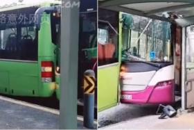 The police and the Singapore Civil Defence Force were called to the incident at a bus stop in Upper Paya Lebar Road at about 7.25am.