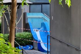 The girl was found submerged face down at the bottom of the pool on Oct 8, 2020.