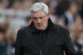 Steve Bruce (above) will be replaced by Graeme Jones at Newcastle United.