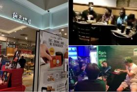 (Clockwise from left) Toast Box at AMK Hub and repeat offenders De Boss House in Joo Chiat Road and Pink Whale in Circular Road.