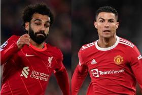 Mohamed Salah's (left) Liverpool will take on Cristiano Ronaldo's Manchester United on Sunday.