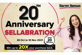 Don't miss unbeatable deals at Harvey Norman's 20th anniversary sale