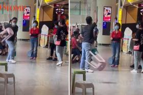 Man arrested after throwing stools, hurling vulgarities at SDAs who advised him to wear mask properly.