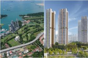 The Great Southern Waterfront (left) and the Rochor BTO project. The PLH model is aimed at keeping future HDB flats in prime, central locations affordable and inclusive.