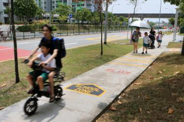 As part of these improvements, a trial of School Zone markings is being introduced to footpaths outside some schools.