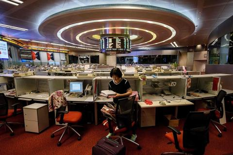Hong Kong stock trading floor