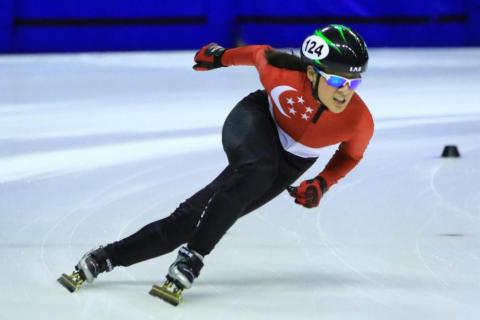 cf12a1e8f3 Cheyenne Goh is Singapore s first winter Olympian. Ice-skater ...
