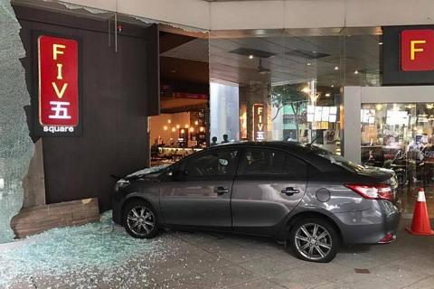 Woman injured in car crash