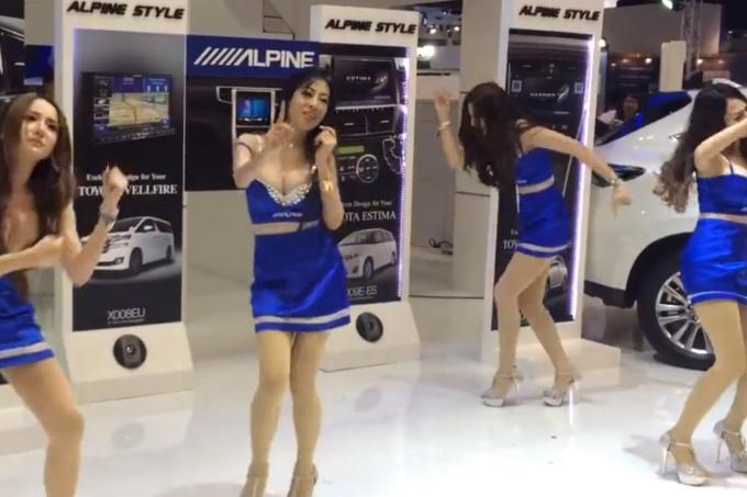 Watch Weird Dance Makes Thai Car Show Models A Hit Latest - Car show models
