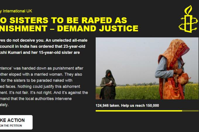 Meanwhile in India, Two Sisters Sentenced to Be Raped Over