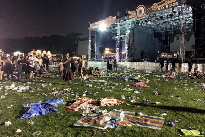 Laneway festivalgoers left venue littered with trash