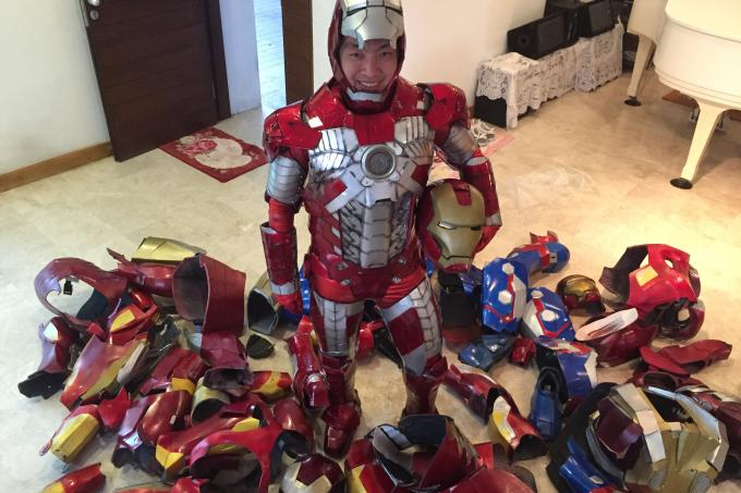 he makes his own iron man costumes  latest singapore news