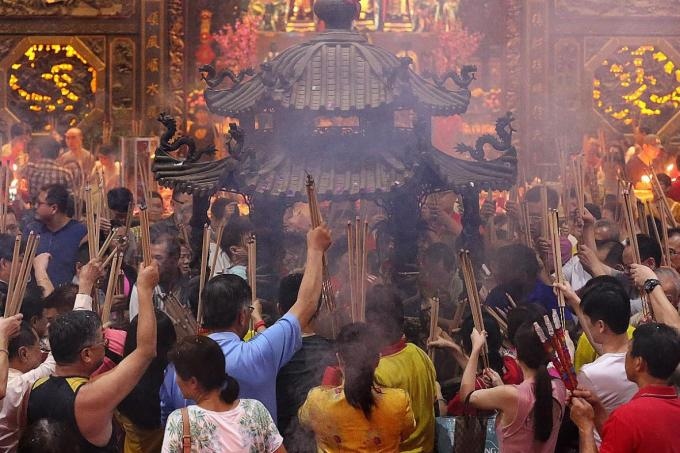 Gathering for Jade Emperor's Birthday, Latest Singapore News - The New Paper