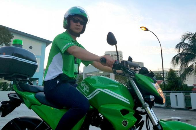 These aren't GrabBikes – they're Grab's enforcement team