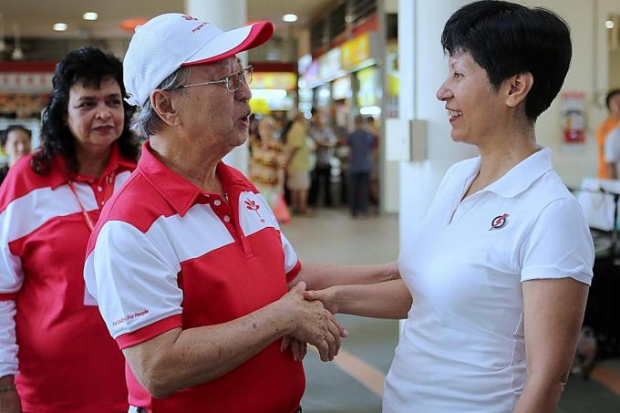 Tan Cheng Bock leads party on first walkabout