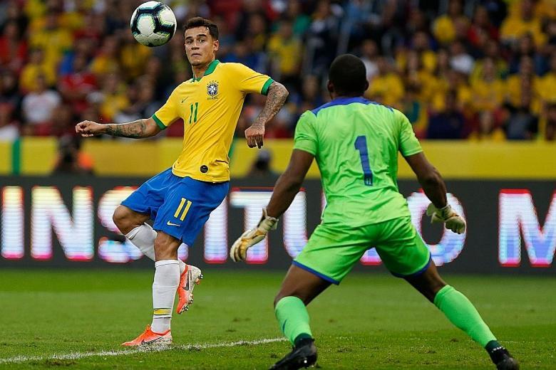 Philippe Coutinho turns on the charm for Brazil against Honduras