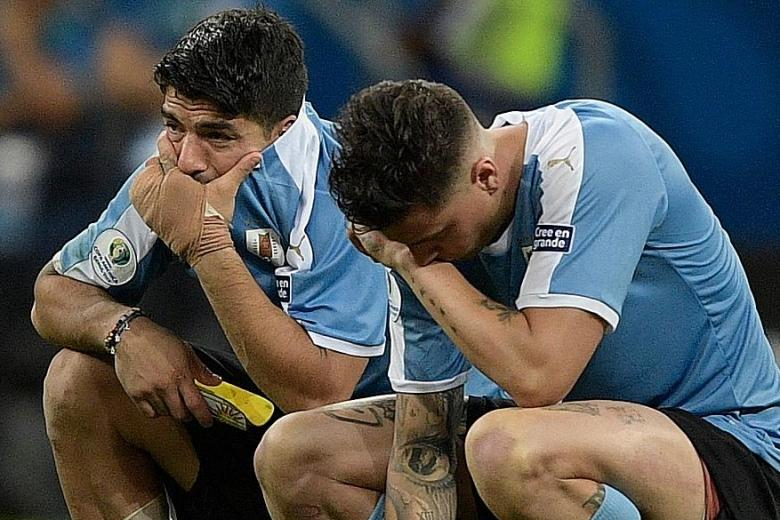 Teary mist after penalty miss for Luis Suarez