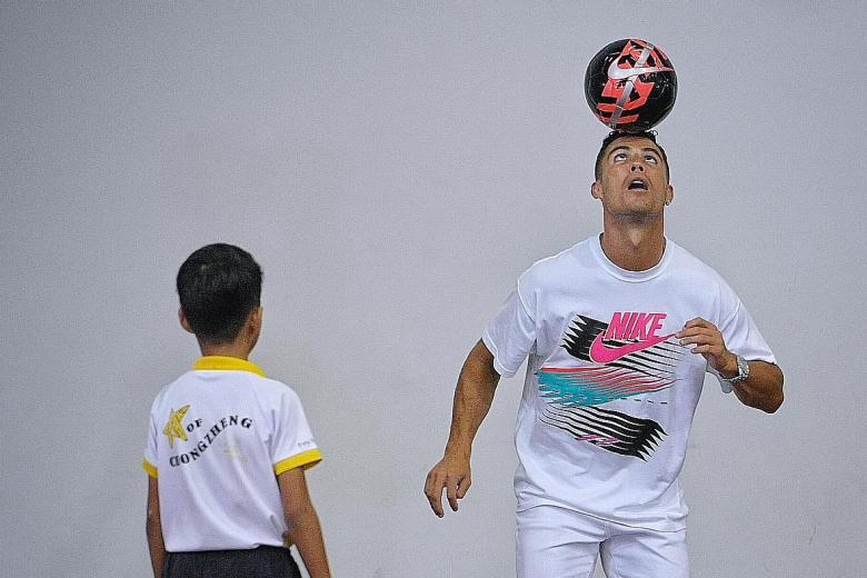 Cristiano Ronaldo, King of Turin, holds court at Yumin