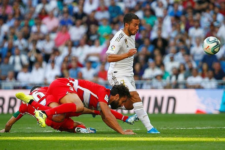 Eden Hazard scores first goal for La Liga leaders Real Madrid