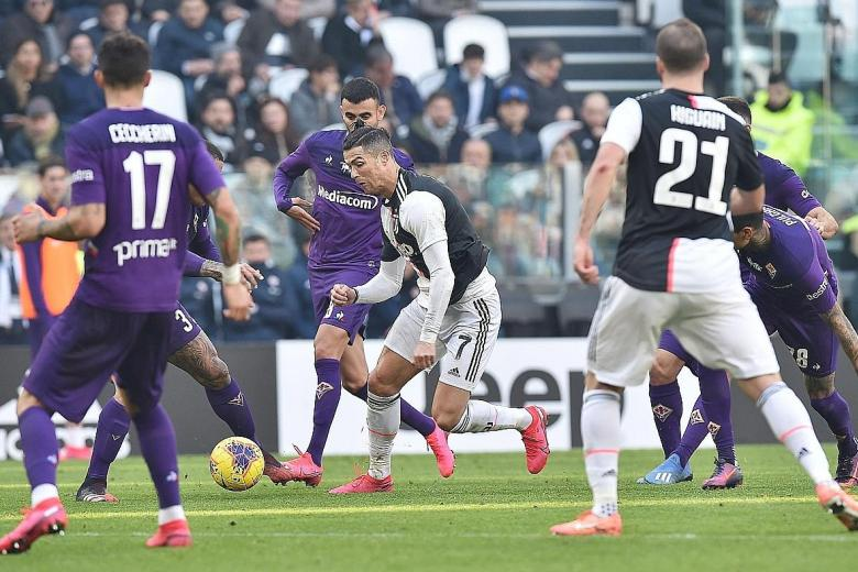 Cristiano Ronaldo scores for ninth Serie A game in a row as Juve win