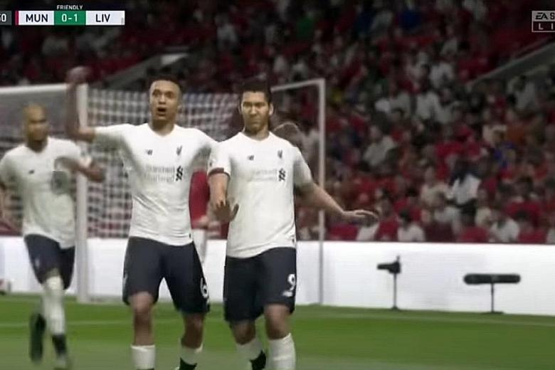 Alexander-Arnold's Liverpool beat Man United 5-1 in Fifa20 tourney